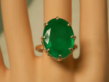 15ct green emerald doublet 925 sterling silver ring size 9 USA made