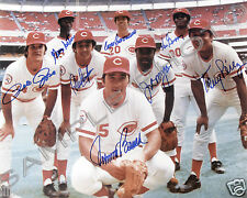 THE BIG RED MACHINE SIGNED AUTO BENCH CONCEPCION PETE ROSE 8x10 PHOTO REPRINT