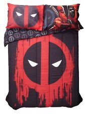 "Marvel Deadpool Paint Drip Full/Queen 81""x86"" Comforter Gift Rare HTF NIP!"