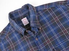 KD252 BROOKS BROTHERS SHIRT TOP ORIGINAL PREMIUM FLANNEL CHECKED size L
