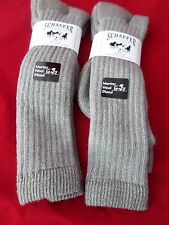 2 Pair Schaefer Ranch Wear 20% Merino Over the Calf  Boot Sock Large 10-13 USA