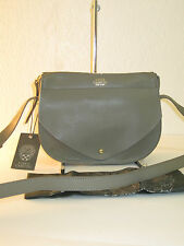 Vince Camuto Auden Stone Grey Leather Small Crossbody Bag $178