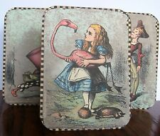 Alice in Wonderland characters mad hatter 6 large tent cards table decoration