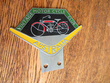Vintage Motorcycle Club Australia car badge