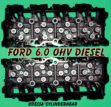 NEW 2 FORD 6.0 TURBO DIESEL F350 TRUCK CYLINDER HEADS 18MM CAST#080 ONLY