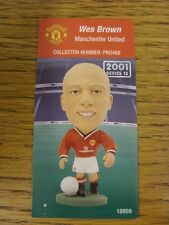 2001/2002 Corinthian Pro-Stars Card: Manchester United - Brown, Wes (PRO468).  W