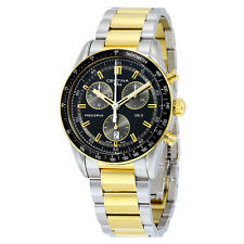 Certina DS - 2 Chronograph Black and Green Dial Two-tone Mens Watch
