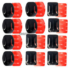 12Pcs Helmet Accessories Flat Curved Adhesive Mount For Gopro Hero 1/2/3 /3+/4/5