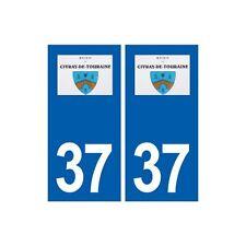 37 Civray-de-Touraine logo autocollant plaque stickers ville immatriculation arr
