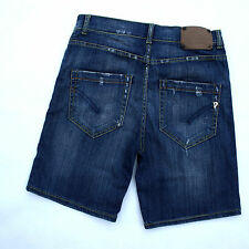 DONDUP HOLLY LADIES BLUE DENIM JEANS STANDART STRETCH SHORTS FIT W30 UK12 ITALY
