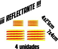 (1089) 4 x Vinilo pegatina bandera Catalana REFLECTANTE coches motos casco