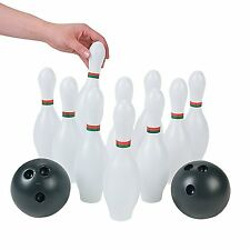 Kids Plastic 12 Pc. Bowling Set Party Toys, New, Free Shipping