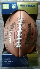 Official Wilson NFL Leather Hand Sewn Football Commissioner Tagliabue Boxed