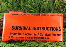 BCB ORANGE HEAVY DUTY PRINTED SURVIVAL BAG EMERGENCY SLEEPING BAG BIVY BUSHCRAFT