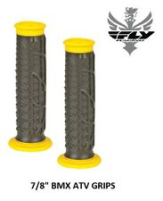 "Fly Racing Pilot II Grips Black Yellow 7/8"" BMX ATV 20"" 24"" Race Cruiser S&M"