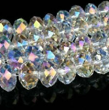 1040PC 3x4mm White AB SWAROVSKI Crystal Faceted Loose Bead