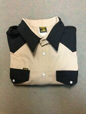 Lapco Heavy Duty Khaki Black Work Shirt 15 X 33'' Medium