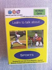 Learn to talk about sports basic language education toy cards.