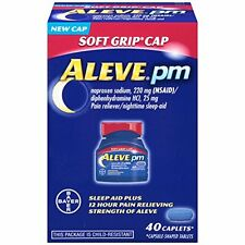 6 Pack Aleve PM 220mg Pain Reliever Nighttime Sleep Aid Soft Grip Cap 40 ct Each