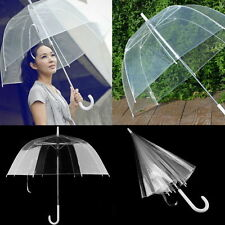 New Transparent Clear Rain Umbrella Parasol PVC Dome for Wedding Party Favor AA