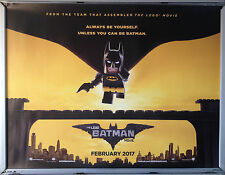 Cinema Poster: LEGO BATMAN MOVIE 2017 (Advance Quad) Will Arnett Ralph Fiennes