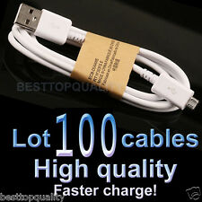 100x Wholesale of Great Quality  Micro USB Cable Charger Cord for Samsung S2~S6