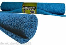 "BLUE MINER'S MOSS 24""X36""x10mm Sluice Box Matting, Gold Panning"