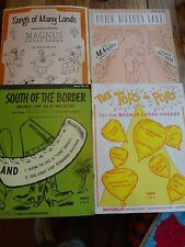 Lot 4 vintage Magnus Chord Organ books #14,15,16,19 contents pictured 1959-1960