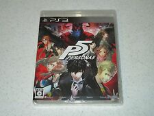 Persona 5 PlayStation 3 Japanese Import Unopened FREE SHIPPING