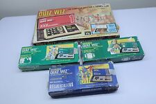 Coleco Quiz Wiz Vintage Handheld Game & Cartridge Book Bundle in Boxes TESTED