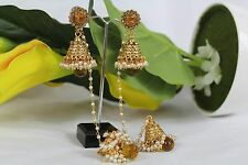 Brand New Indian Ethnic Jhumki Jhumka with Jhumki Drop Earrings 157