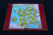 A202 ANCIEN JOUET VERA PUZZLE BOIS FRANCE departement