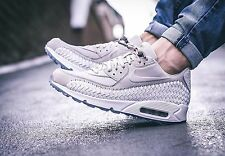 Nike Air Max 90 Woven Phantom Lt Iron Ore/White 833129-005 Men's Sz 10.5
