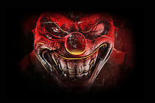 Stampa incorniciata-Rosso del Male Assassino Clown (PICTURE POSTER Gotico FILM HORROR FILM)