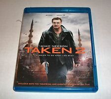 TAKEN 2 LIAM NEESON BLU RAY DVD MOVIE EXCELLENT PRE-OWNED