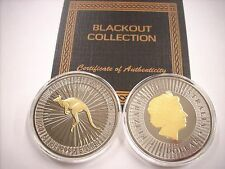 2016 1 OZ SILVER COIN PERTH MINT AUSTRALIAN KANGAROO COIN *BLACKOUT COLLECTION*