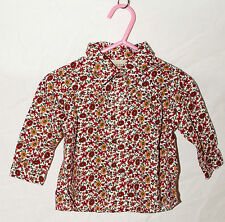 Arizona Jeans Pearl Snap BUTTON UP Sz 12 Mos 100% Cotton Floral Western Cowgirl