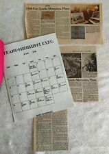 RARE Omaha Trans-Mississippi 1898 - Calendar, World Herald News Article 1993