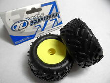 Team Losi Mini-T 1/18 Front Mini Smashers Wheels & Tyres LOSB1185 Pre-Glued Pair