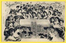 cpa 54 - BAISER de TOUL Cathédrale Les Plus JOLIES FILLES du PAYS Pretty Girls