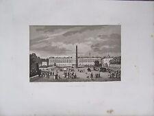 GRAVURE 1839 PARIS PLACE LOUIS XV PLACE DE LA CONCORDE