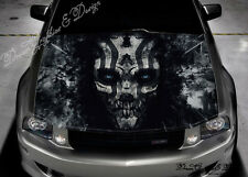Evil Skull Full Color Graphics Adhesive Sticker Fit any Car Hood #232