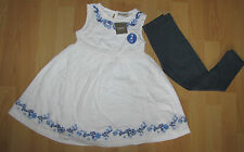 BNWT NEXT Size 4-5 Years (104-110cm) White Tunic*Dress with Leggings  *Set*