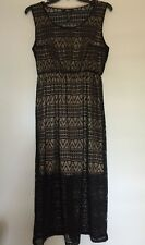 Style&Co. Sleeveless Scoop-Neck Illusion Maxi Lace Black Dress Plus 1X $79.50