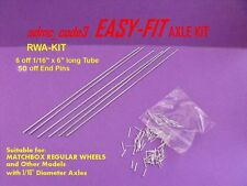 EASY-FIT Replacement Axle Kit for MATCHBOX REGULAR WHEELS Restroations RWA-KIT