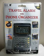 NEW SEIKO INSTRUMENTS SII ELECTRONIC TRAVEL ALARM CLOCK PHONE ORGANIZER DF-4011
