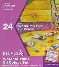 24 Set Reeves Miscible avec l'eau Peinture à l'huile m3