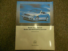 2004 Mercedes Model 209.465 475 476 Cabriolet Introduction into Service Manual