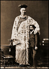 Photo of a Chinese Giant and Friend, 1870s