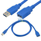 USB 3.0 A Male Plug To Female Socket 3Ft 1m Super Fast Extension Cable Cord